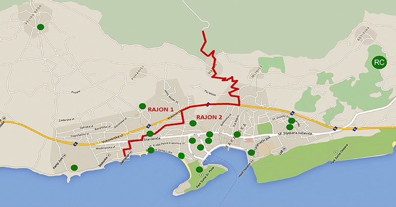 Katastar zelenih otoka Makarska